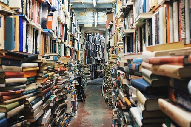 Deep library corridor
