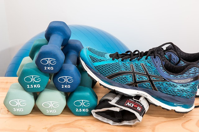 Exercise equipment and workout shoes