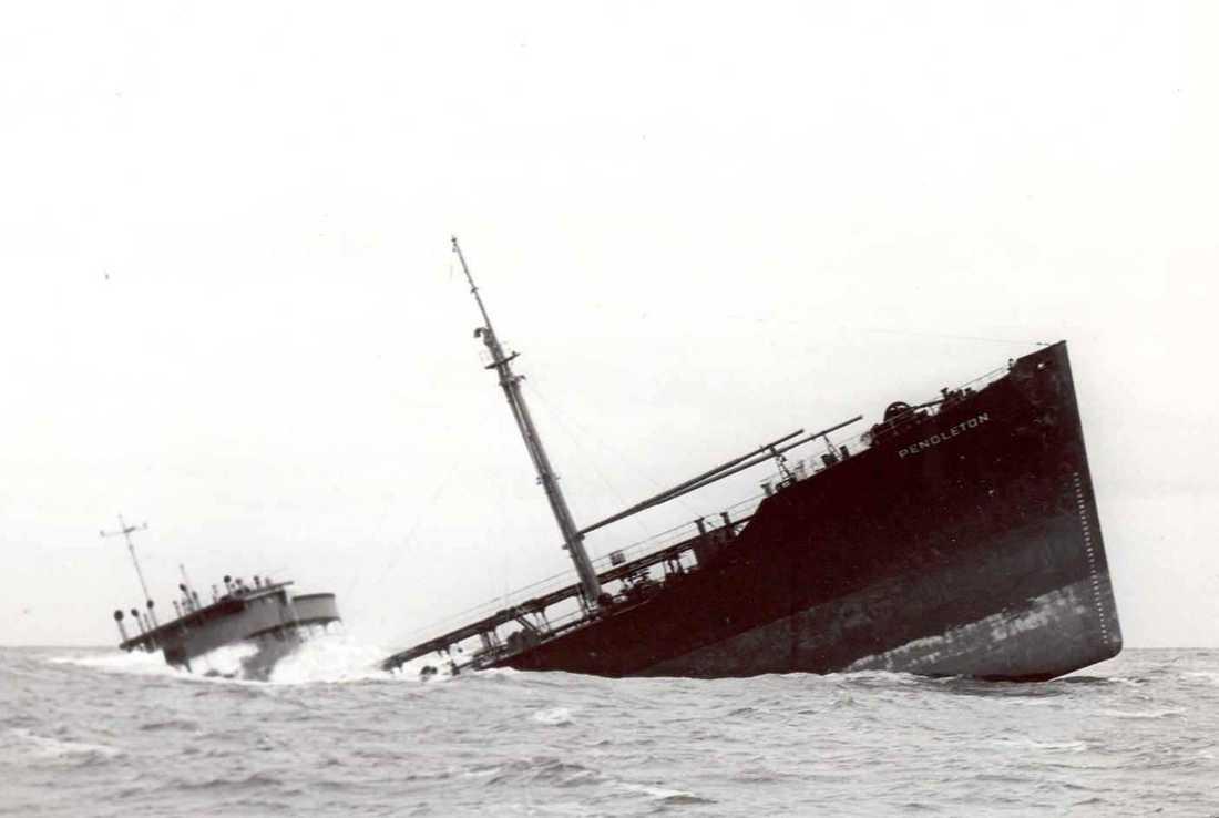 Sinking ship Pendleton